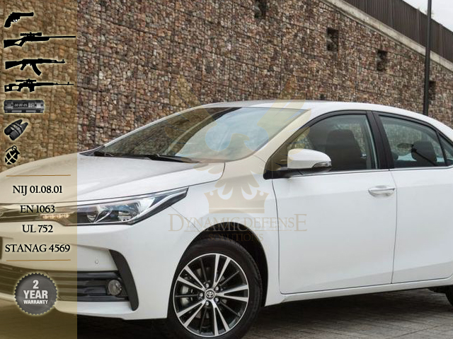 ARMORED TOYOTA COROLLA 2017 BULLET PROOF GLASS B6 – armored